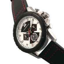 Load image into Gallery viewer, Morphic M57 Series Chronograph Leather-Band Watch - Silver/Black - MPH5701