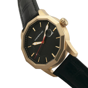 Morphic M56 Series Leather-Band Watch w/Date - Gold/Black - MPH5603