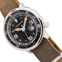 Load image into Gallery viewer, Morphic M74 Series Leather-Band Watch w/Magnified Date Display - Brown/Black & Silver/Black - MPH7410