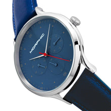 Load image into Gallery viewer, Morphic M65 Series Leather-Band Watch w/Day/Date - Blue - MPH6506
