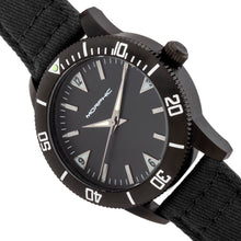 Load image into Gallery viewer, Morphic M85 Series Canvas-Overlaid Leather-Band Watch - Black - MPH8502