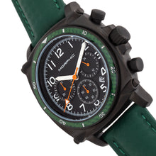 Load image into Gallery viewer, Morphic M83 Series Chronograph Leather-Band Watch w/ Date - Black/Green - MPH8307