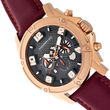 Load image into Gallery viewer, Morphic M73 Series Chronograph Leather-Band Watch - Rose Gold/Charcoal - MPH7305