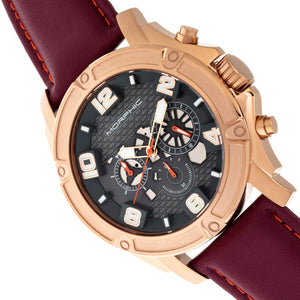 Morphic M73 Series Chronograph Leather-Band Watch - Rose Gold/Charcoal - MPH7305