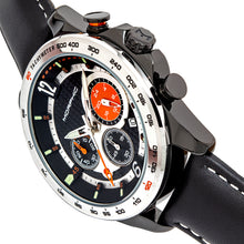 Load image into Gallery viewer, Morphic M88 Series Chronograph Leather-Band Watch w/Date - Black/Silver - MPH8804