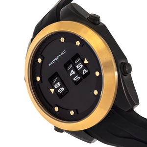 Morphic M76 Series Drum-Roll Strap Watch - Black/Gold - MPH7604