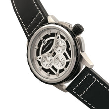 Load image into Gallery viewer, Morphic M61 Series Chronograph Leather-Band Watch w/Date - Silver/Black - MPH6101
