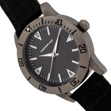 Load image into Gallery viewer, Morphic M85 Series Canvas-Overlaid Leather-Band Watch - Gunmetal/Black - MPH8505