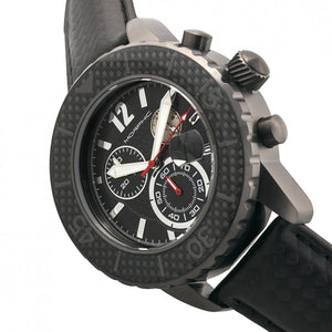 Morphic M51 Series Chronograph Leather-Band Watch w/Date - Gunmetal/Grey - MPH5106