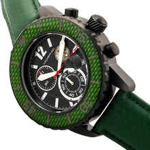Load image into Gallery viewer, Morphic M51 Series Chronograph Leather-Band Watch w/Date - Black/Green - MPH5105