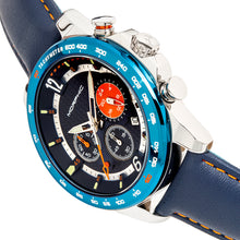 Load image into Gallery viewer, Morphic M88 Series Chronograph Leather-Band Watch w/Date - Navy/Blue - MPH8802