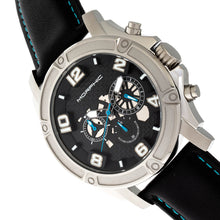 Load image into Gallery viewer, Morphic M73 Series Chronograph Leather-Band Watch - Silver/Black - MPH7302