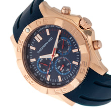 Load image into Gallery viewer, Morphic M75 Series Tachymeter Strap Watch w/Day/Date - Rose Gold/Blue - MPH7504