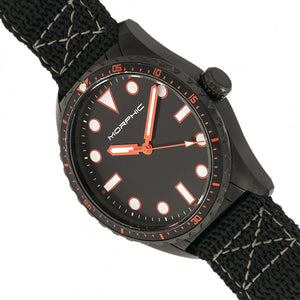 Morphic M69 Series Canvas-Band Watch - Black - MPH6905
