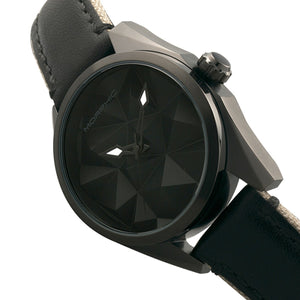 Morphic M59 Series Leather-Overlaid Canvas-Band Watch - Black - MPH5905