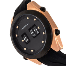 Load image into Gallery viewer, Morphic M76 Series Drum-Roll Strap Watch - Rose Gold/Black - MPH7603