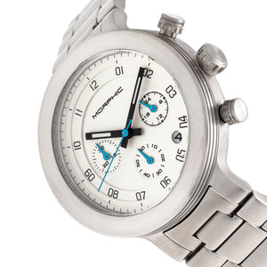 Morphic M78 Series Chronograph Bracelet Watch - Silver/White - MPH7801