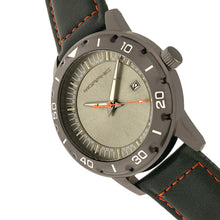 Load image into Gallery viewer, Morphic M71 Series Leather-Band Watch w/Date - Gunmetal/Forest Green - MPH7106