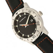 Load image into Gallery viewer, Morphic M71 Series Leather-Band Watch w/Date - Silver/Black - MPH7101