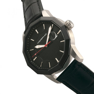Morphic M56 Series Leather-Band Watch w/Date - Silver/Black - MPH5601