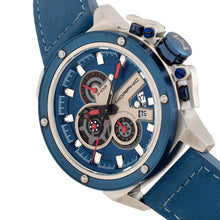 Load image into Gallery viewer, Morphic M81 Series Chronograph Leather-Band Watch w/Date - Blue/Silver  - MPH8102