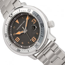 Load image into Gallery viewer, Morphic M74 Series Bracelet Watch w/Magnified Date Display - Gunmetal/Silver/Brown - MPH7402