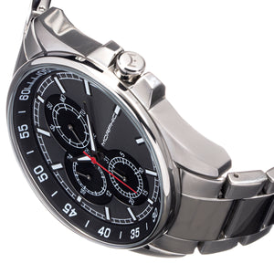 Morphic M92 Series Bracelet Watch w/Day/Date - Grey & Black - MPH9206