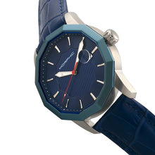 Load image into Gallery viewer, Morphic M56 Series Leather-Band Watch w/Date - Silver/Blue - MPH5602