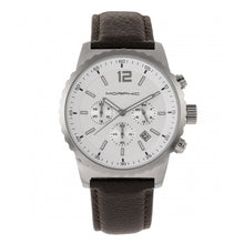 Load image into Gallery viewer, Morphic M67 Series Chronograph Leather-Band Watch w/Date - Silver/Brown - MPH6702