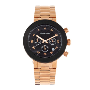Morphic M78 Series Chronograph Bracelet Watch - Rose Gold/Black - MPH7806
