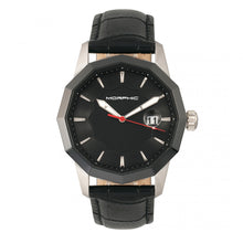 Load image into Gallery viewer, Morphic M56 Series Leather-Band Watch w/Date - Silver/Black - MPH5601