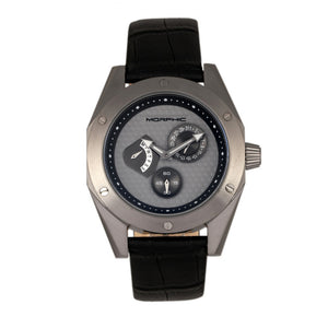 Morphic M46 Series Leather-Band Men's Watch w/Date