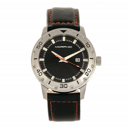 Morphic M71 Series Leather-Band Watch w/Date - MPH7101