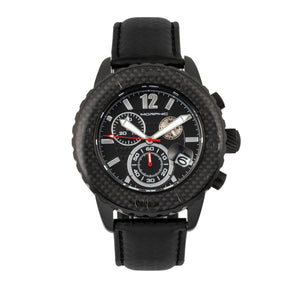 Morphic M51 Series Chronograph Leather-Band Watch w/Date - Black - MPH5104