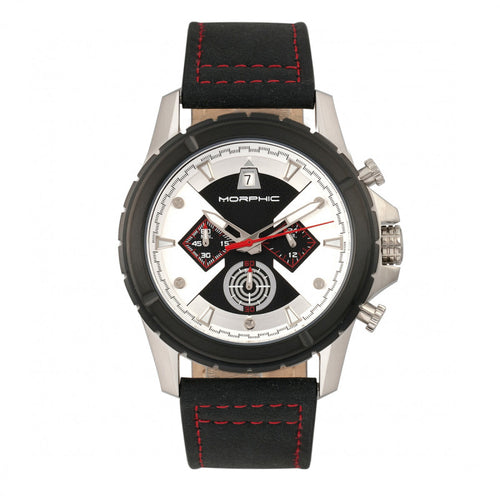 Morphic M57 Series Chronograph Leather-Band Watch - MPH5701
