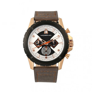Morphic M57 Series Chronograph Leather-Band Watch