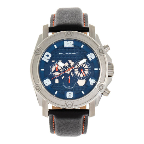 Morphic M73 Series Chronograph Leather-Band Watch - MPH7303