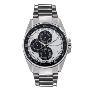 Morphic M92 Series Bracelet Watch w/Day/Date - Silver & Black - MPH9201
