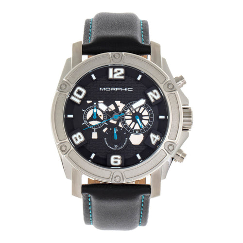 Morphic M73 Series Chronograph Leather-Band Watch - MPH7302