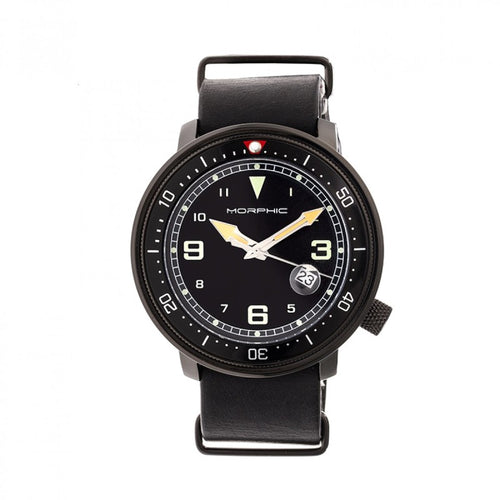 Morphic M58 Series Nato Leather-Band Watch w/ Date - MPH5805