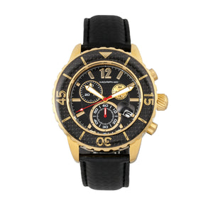 Morphic M51 Series Chronograph Leather-Band Watch w/Date - Gold/Black - MPH5102