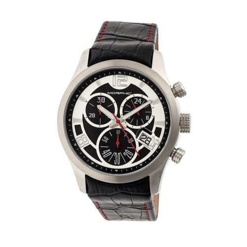 Morphic M37 Series Leather-Band Chronograph Watch - MPH3701