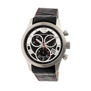Morphic M37 Series Leather-Band Chronograph Watch