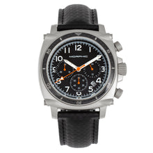 Load image into Gallery viewer, Morphic M83 Series Chronograph Leather-Band Watch w/ Date - Silver/Black - MPH8304