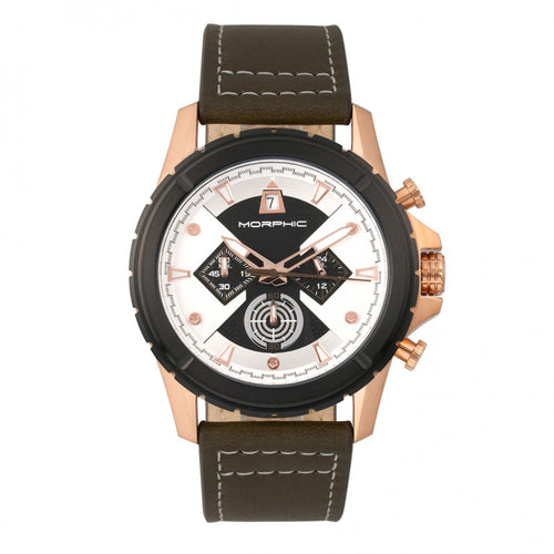 Morphic M57 Series Chronograph Leather-Band Watch - MPH5706