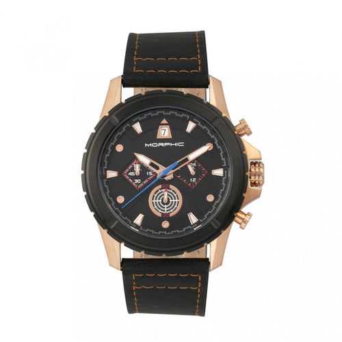 Morphic M57 Series Chronograph Leather-Band Watch - MPH5705