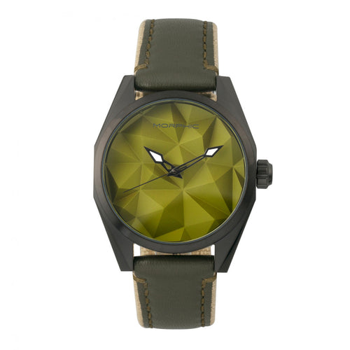 Morphic M59 Series Leather-Overlaid Canvas-Band Watch - MPH5906