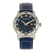 Load image into Gallery viewer, Morphic M71 Series Leather-Band Watch w/Date - Silver/Blue - MPH7102