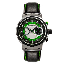 Load image into Gallery viewer, Morphic M91 Series Chronograph Leather-Band Watch w/Date - Silver/Green - MPH9102