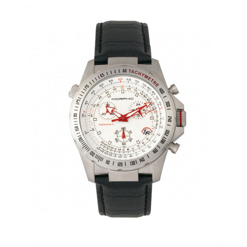 Morphic M36 Series Leather-Band Chronograph Watch - MPH3601